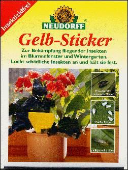 D ngen und pflegen neudorff gelb sticker for Neudorff gelbsticker